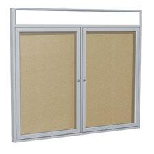 2 Door Outdoor Aluminum Headliner Vinyl Bulletin Board