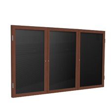 3 Door Wood Frame Enclosed Flannel Letterboard