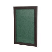 1 Door Outdoor Aluminum Frame Enclosed Vinyl Bulletin Board