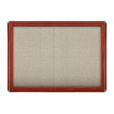 "2 Door Sliding Ovation Fabric 2' 10"" x 3' 11"" Bulletin Board"