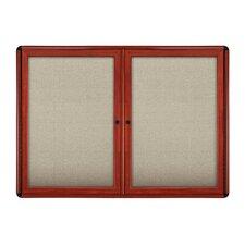 2 Door Ovation Fabric Bulletin Board