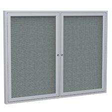 2 Door Enclosed Fabric Bulletin Board
