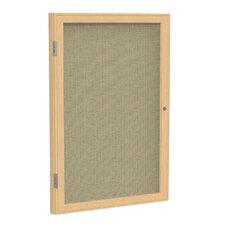 1-Door Wood Frame Enclosed Fabric Tackboard