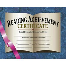 Certificates Reading Achievement 30