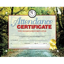 Certificates Attendance 30 Pk
