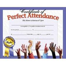 Certificates Perfect Attendance 30