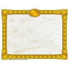 Gold Block Certificate Border