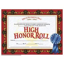 High Honor Roll Award 30/pk 8.5x11