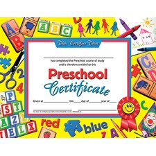 Preschool Certificate 30pk Yellow