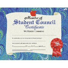 <strong>Hayes School Publishing</strong> Certificates Student Council 30/pk
