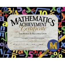 Certificates Mathematics 30/pk