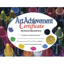 Certificates Art Achievement 30/pk