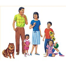 <strong>Little Folks Visuals</strong> Asian Family Flannelboard Set