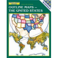 <strong>McDonald Publishing</strong> Outline Maps The Us Gr 6-9