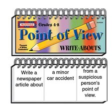 Point Of View Write Abouts Gr 4-8