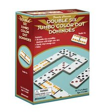 Double 6 Jumbo Color Dot Dominoes Game
