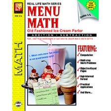 Menu Math Ice Cream Parlor Book-1