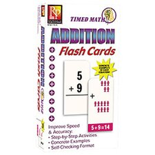 Timed Math Addition Flash Cards