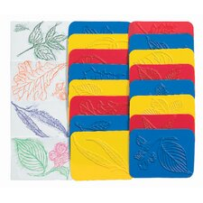 Rubbing Plates Leaf (Set of 16)