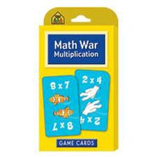 Math War Multiplication Game Cards