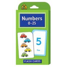 Numbers 0-25 Flash Cards (Set of 56)