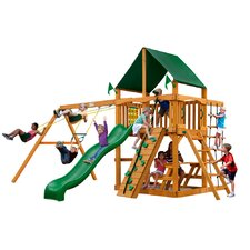 Chateau II with Amber Posts and Canopy Cedar Swing Set