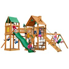 Pioneer Peak with Amber Posts Cedar Swing Set