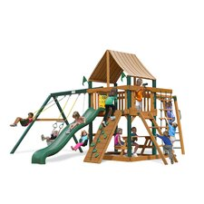 <strong>Gorilla Playsets</strong> Navigator Swing Set with Western Ginger Sunbrella Canopy
