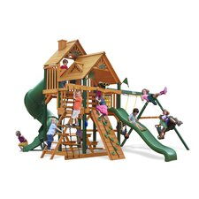 <strong>Gorilla Playsets</strong> Great Skye I Swing Set with Wood Roof Canopy