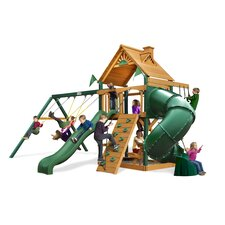 <strong>Gorilla Playsets</strong> Mountaineer Swing Set with Wood Roof Canopy