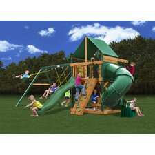 <strong>Gorilla Playsets</strong> Mountaineer Swing Set with Green Vinyl Canopy
