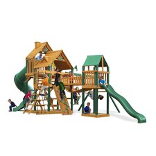 Treasure Trove Swing Set with Wood Roof Canopy