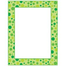 Green Polka Dots Printer Paper