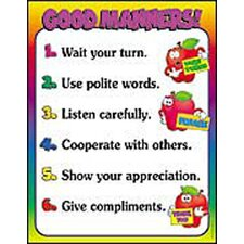 Good Manners Friendly Chart