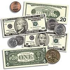 Us Coins & Bills Accent Punch-outs