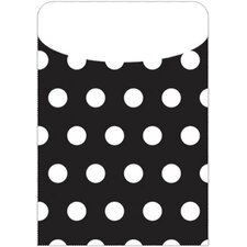 Brite Pockets Blk Polka Dots 25/bag