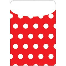 Brite Pockets Red Polka Dots 35/bag