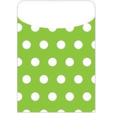 <strong>Top Notch Teacher Products</strong> Brite Pockets Grn Polka Dots 25/bag