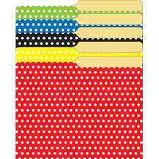 <strong>Top Notch Teacher Products</strong> Mini File Folders Assorted Polka