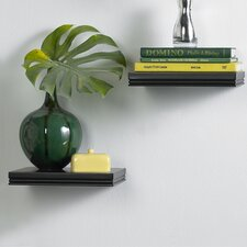 InPlace Floating Decorative Wood Shelves (Set of 2)