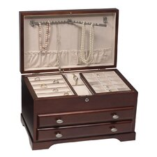 Everly Mahogany Jewelry Box