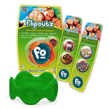 Flipoutz Bracelet with One Coin and Two Additional Coin Pack in Green