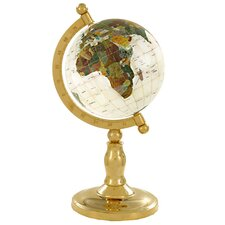 "<strong>Alexander Kalifano</strong> 9"" Full Mop Classic Globe with Arch and Base in Gold"
