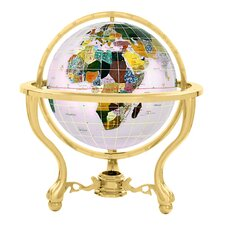 "6"" Commander Opal Globe with Three Leg Stand in Gold"