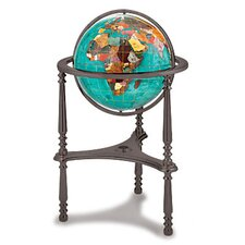 Gemstone Globe with Opalite Ocean and Ambassador 3-Leg High Stand