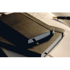 Classic Medium Hardcover Notebook in Black