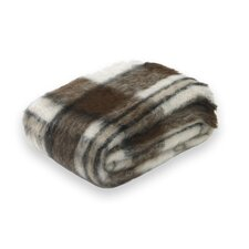 Brushed Plaid Alpaca Throw