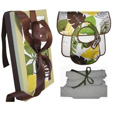 Organic Bib, Burp and Wash Gift Set in Rainforest