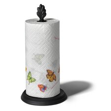 Leaf Paper Towel Holder in Black