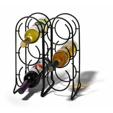 <strong>Spectrum Diversified</strong> Horseshoe 6 Bottle Tabletop Wine Rack